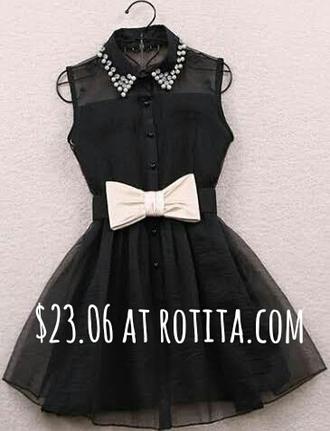 dress black dress black bows bow