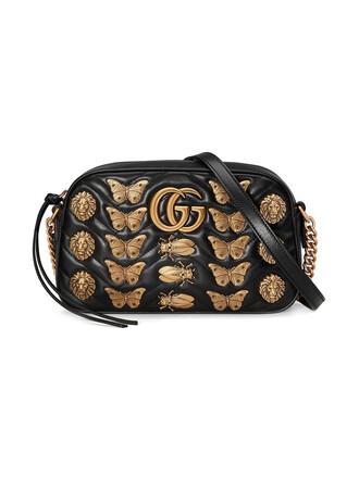 studs metal women animal bag shoulder bag leather suede black
