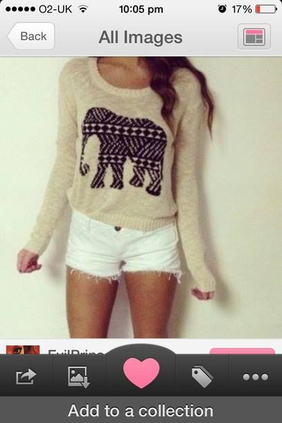 shirt elephant sweatshirt thin