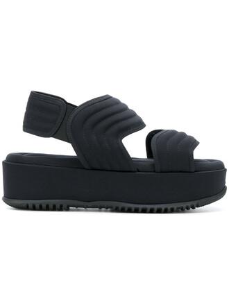 women quilted sandals flatform sandals cotton black shoes