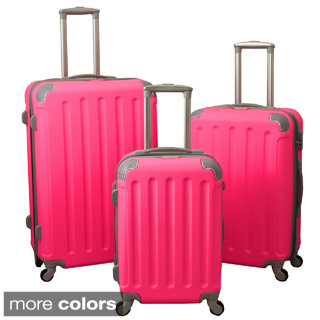 3-Piece Hardside Spinner Luggage Set With Combination Lock ...