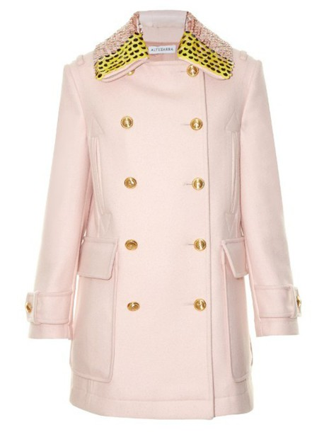 Altuzarra coat wool light pink light pink