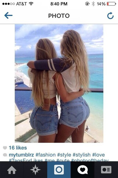 tumblr shorts girly jeans beach
