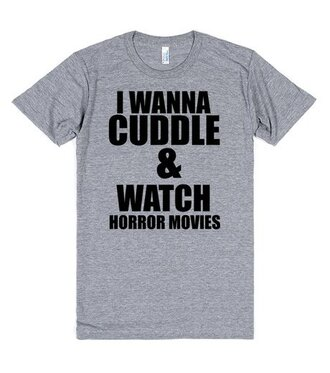 t-shirt halloween horror movie cuddle funny shirt
