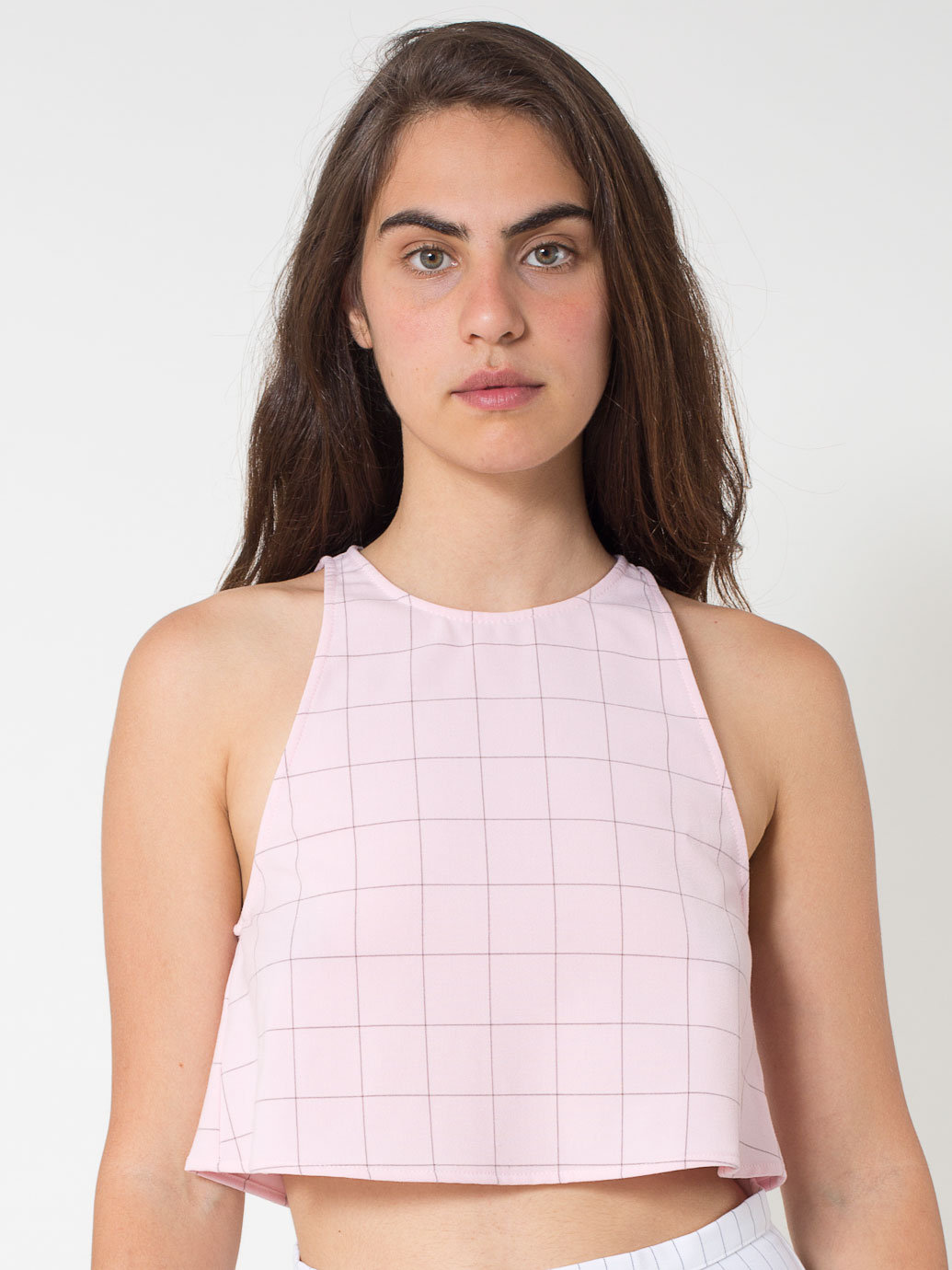 The Grid Print Lulu Crop | American Apparel