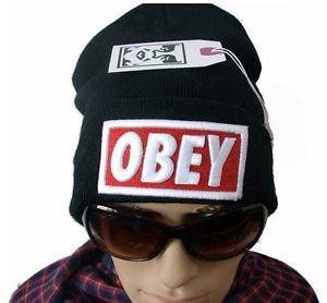 Hiphop Cap Obey Beanie Warm Ski Knit Skull Winter Women Men Cool Hat | eBay