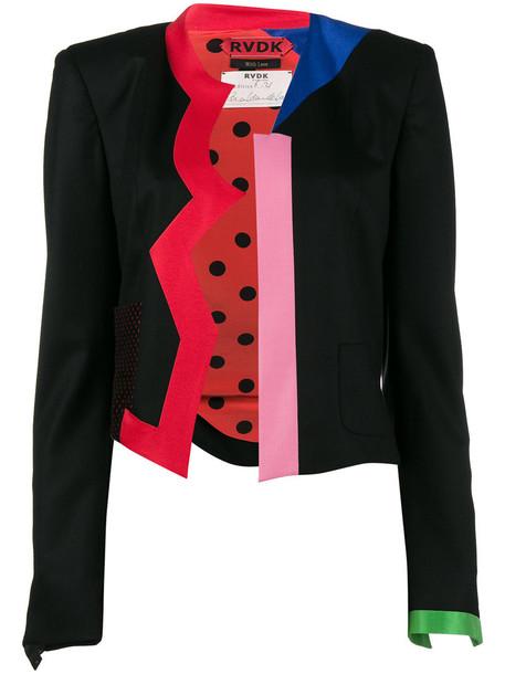 Ronald Van Der Kemp jacket women black silk wool