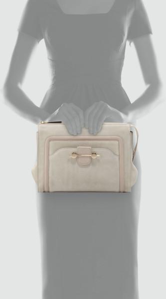 River Island Beige Cream Chain Tassel Gem Stone Box Clutch Bag