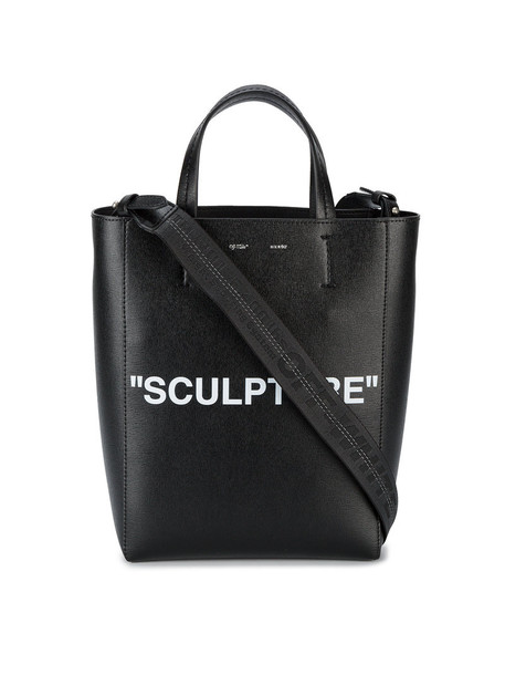 Off-White women bag tote bag leather black