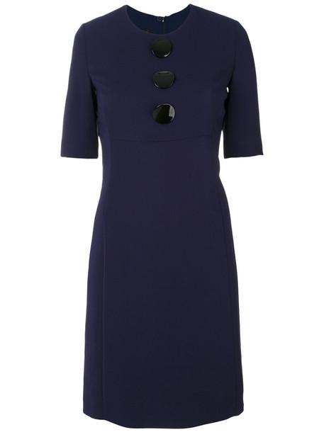 Emporio Armani dress women spandex plastic blue
