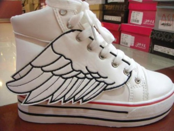 white shoes wings shoes