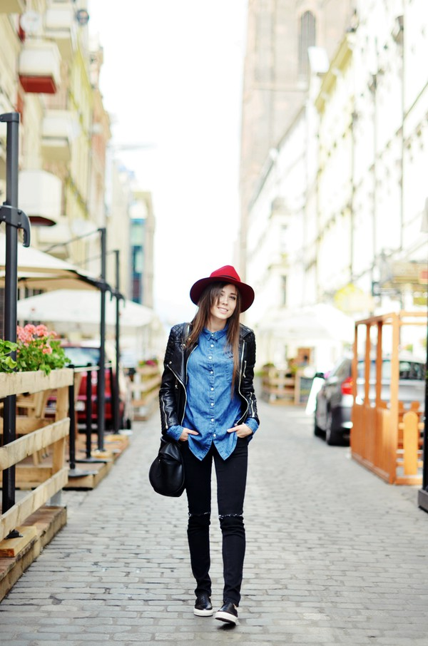 jestem kasia jacket shirt jeans shoes hat
