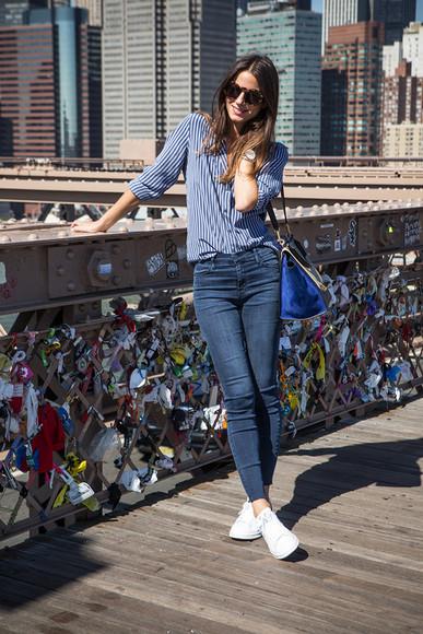 fashion vibe blogger sunglasses bag jewels jeans