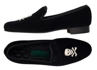 shoes pirate slippers cheap perfect chuck bass loafers skull