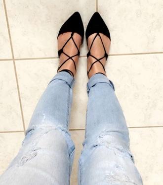 shoes black black flats flats strappy flats