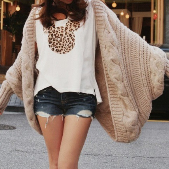 Preorder Taupe Knit Oversized Cozy Cardigan From
