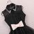 Lapel gauze high-waisted dresses / wantde