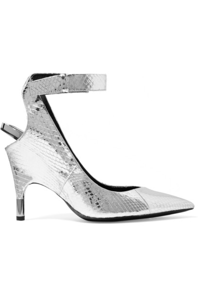 Tom Ford metallic pumps silver shoes