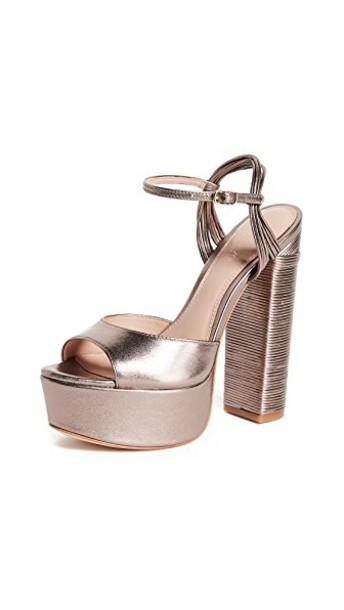 Rachel Zoe sandals platform sandals blush shoes