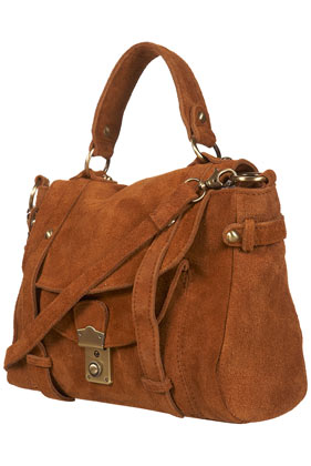 Suede slouch satchel