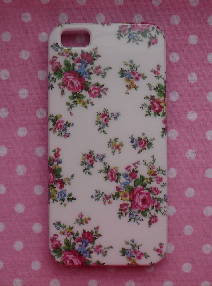 Cream Vintage Country English Rose Floral iPhone 5 5S Hard Case Back Cover | eBay