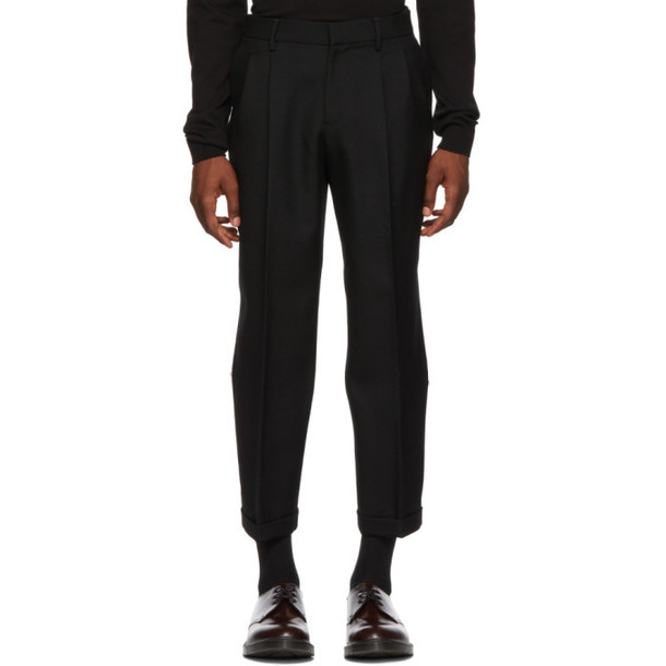 Alexander McQueen Black Japanese Serge Trousers