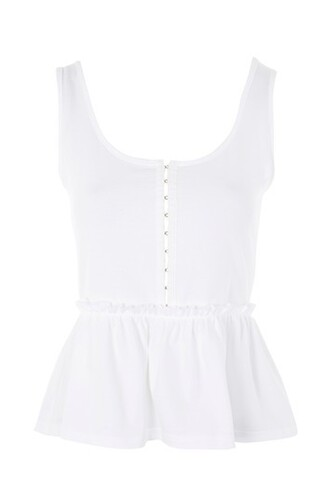 top peplum top white