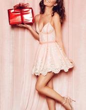 dress,christmas,lace dress,pink dress,cute dress,girly dress,london,england,asymmetrical dress,spaghetti straps dress,valentines day,day dress
