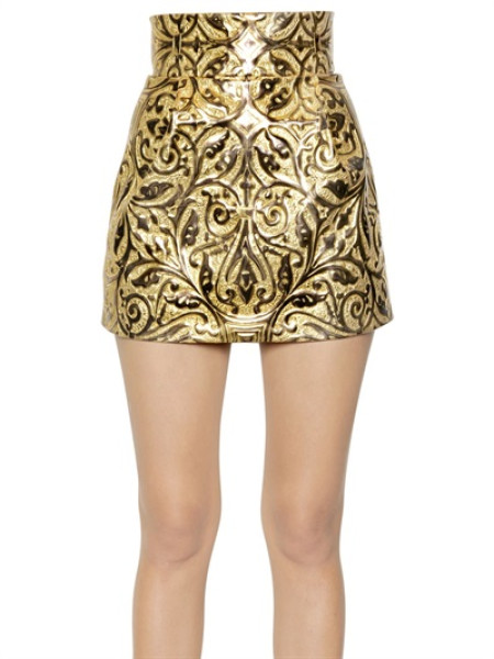 Gold high waisted skirt – Fashionable skirts 2017 photo blog