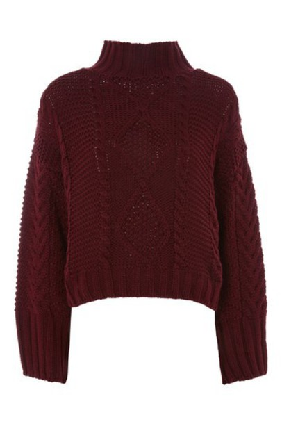 Topshop jumper burgundy sweater