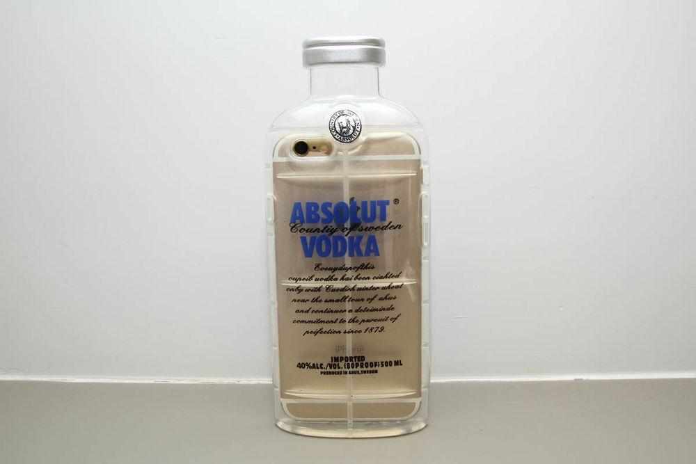 Iphone 6 case (blue) vodka transparent crystal bottle style iphone 6 case