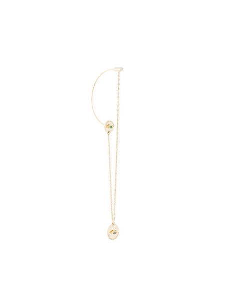 Delfina Delettrez women gold grey metallic jewels