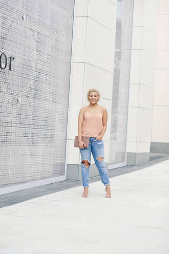 fashionably lo blogger tank top jeans bag shoes jewels