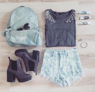 bag college blue gray perfect denim