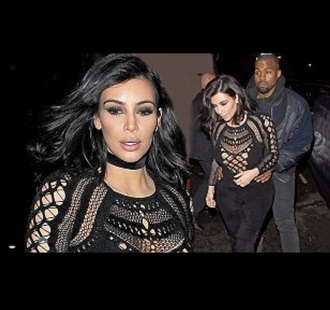 jumpsuit kim kardashian jewels choker necklace black choker black necklace jewelry kim kardashian style kardashians keeping up with the kardashians celebrity style celebrity celebstyle for less