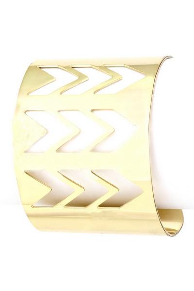 Rhythmic cutout cuff