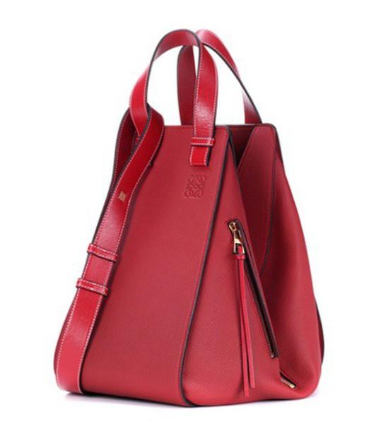 LOEWE leather red bag