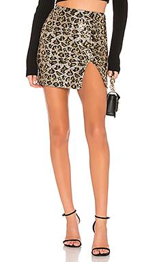 superdown Travie Sequin Mini Skirt in Leopard Sequin from Revolve.com