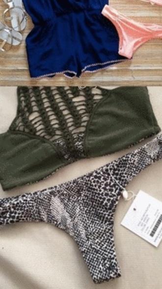 swimwear army green green bikini bikini top bikini bottoms bathing suit top bathingsuit bathing suit top and bottom