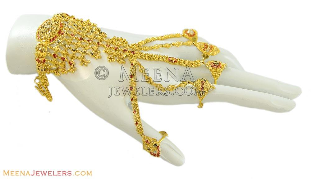 Three Tone Panja Bracelet BrLa8837 US$ 2 475 22k gold