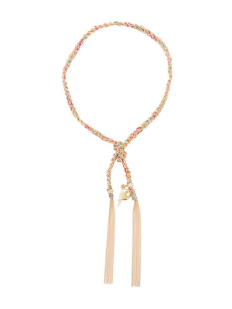 Carolina Bucci women gold silk grey metallic jewels