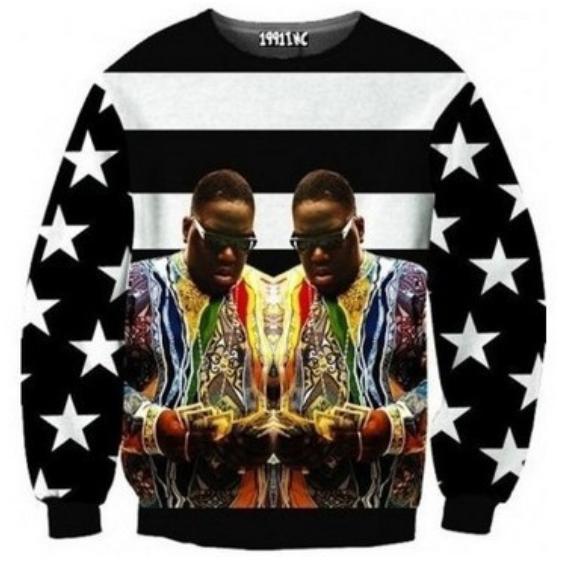 3d biggie crewnecks from thug fashion on storenvy