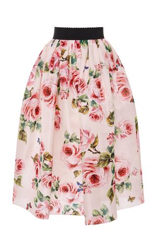 Rose Organza Midi Skirt | Moda Operandi