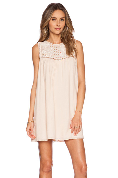 TULAROSA dress beige