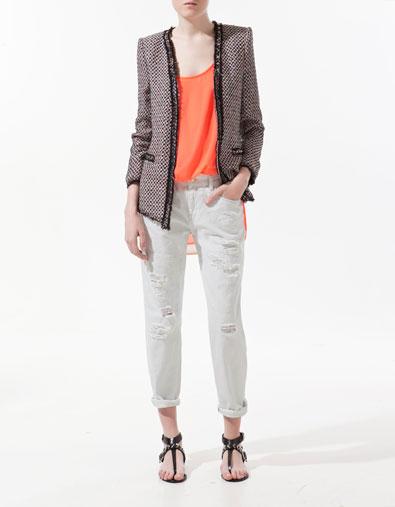 blazer clout multicolore vestes femme zara france. Black Bedroom Furniture Sets. Home Design Ideas