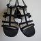 Nine west black strappy sandal heels