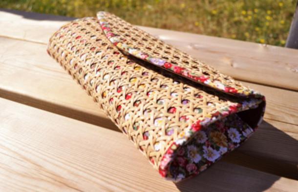 flowers crochet boho clutch handbag red bag white bag black bag orange bag pink bag purple bag brown bag bag