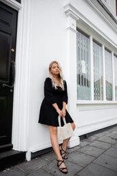 dress,black dress,shoes,bag,sandals