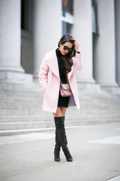 wendy's lookbook blogger coat dress shoes bag sunglasses