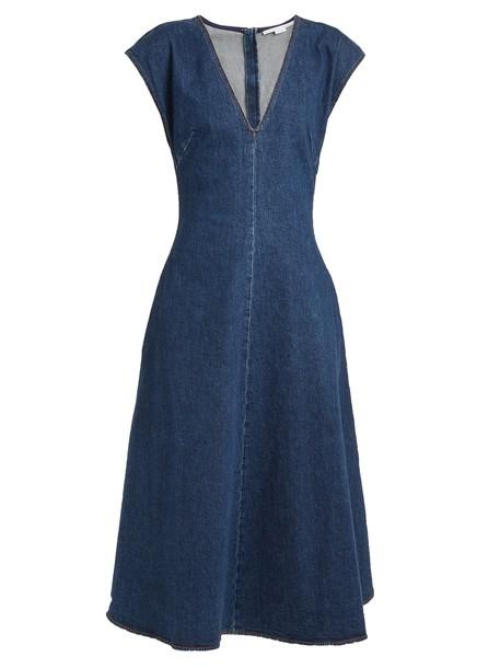 Stella McCartney dress denim dress denim dark